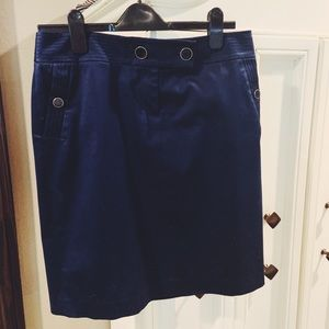 Navy J.Crew Pencil Skirt